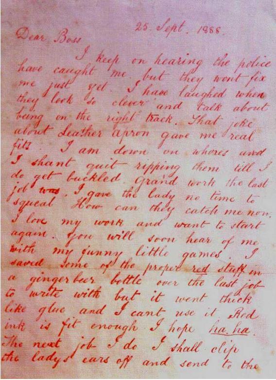 """Carta de Jack el Destripador, """"Dear Boss"""""""