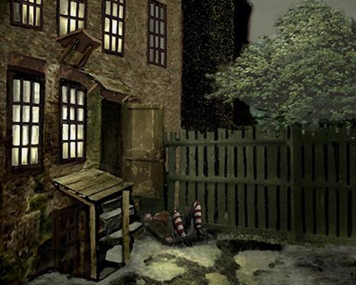 Ilustración, Escenaio del crimen