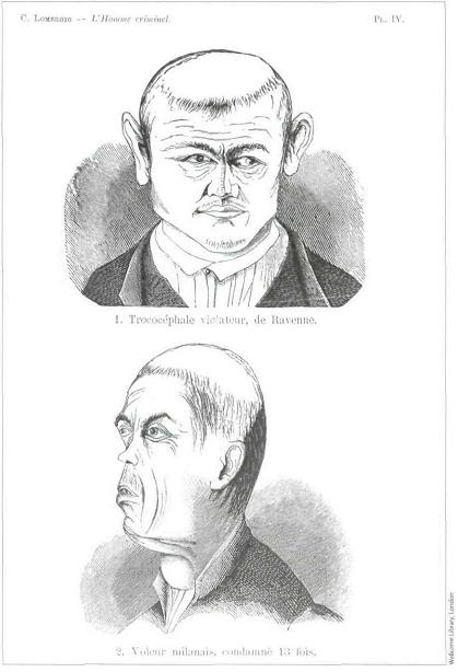Ilustración L´uomo criminal, Césare Lombroso