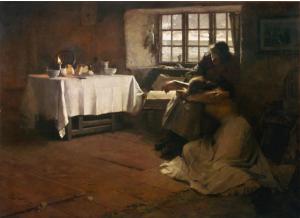 A Hopeless Dawn (Amanecer sin esperanza). 1888. Frank Bramley. Óleo sobre lienzo.